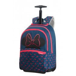 SAMSONITE CARTABLE A ROULETTES 106712 DISNEY ULTIMATE MINNIE NEON