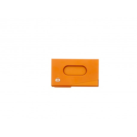 OGON ONE TOUCH ORANGE PORTE CARTES DE VISITE