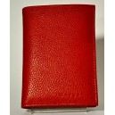 MARGENE 35582 PORTEFEUILLE CUIR ROUGE
