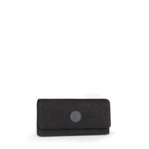 KIPLING GRAND PORTEFEUILLE BROWNIE BP K15171 BLACK LEAF H61